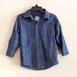 4/$25 Toddler 2T Denim Chambray Button Down Shirt